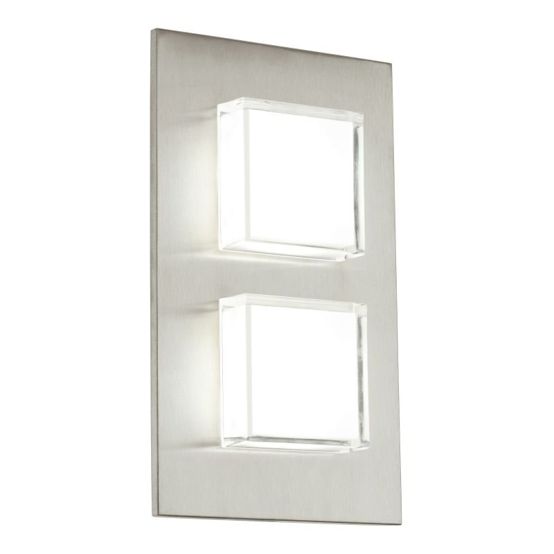 Eglo-93365 - Pias - LED Frosted & Stainless Steel Wall Lamp