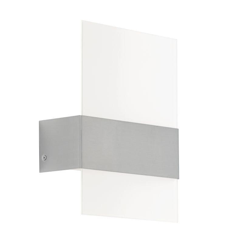 Eglo-93438 - Nadela - LED White Satin Glass & Stainless Steel Wall Lamp