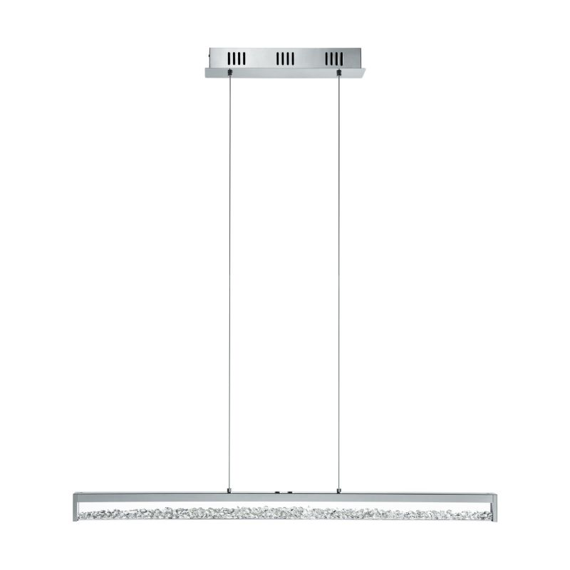 Eglo-93626 - Cardito 1 - LED Crystal & Clear Glass over Island Fitting