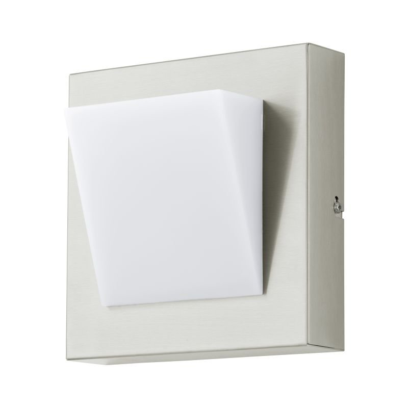 Eglo-94114 - Calgary 1 - Outdoor White & Stainless Steel Wall Lamp