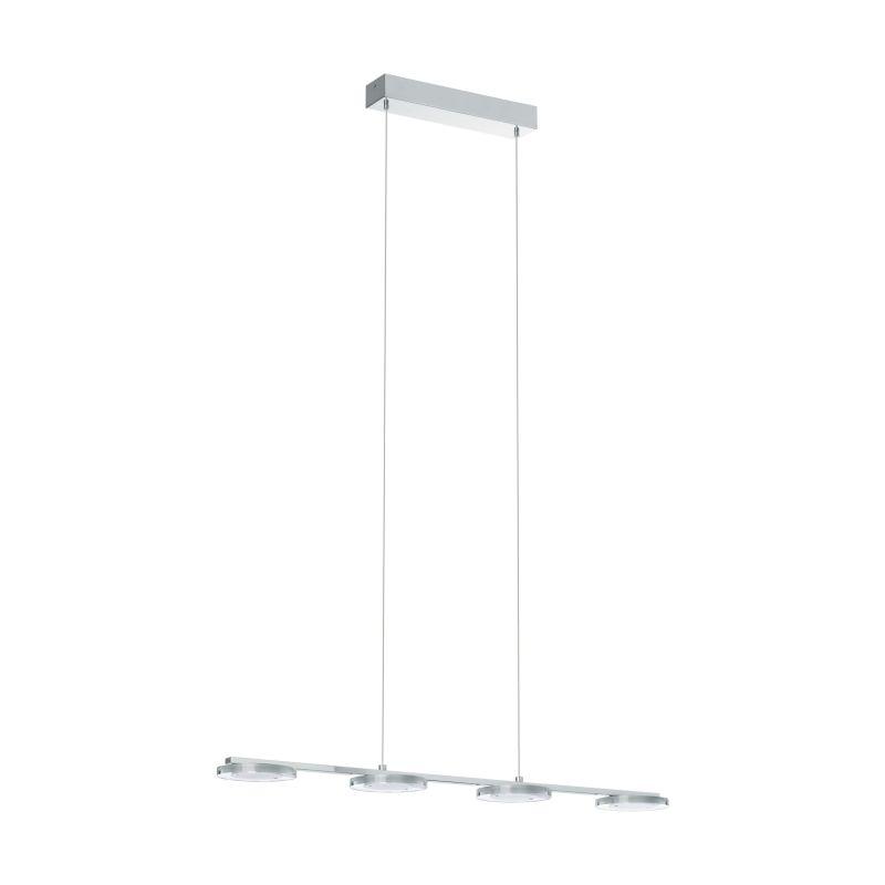 Eglo-94245 - Cartama - LED Clear Diffuser & Chrome 4 Light over Island Fitting