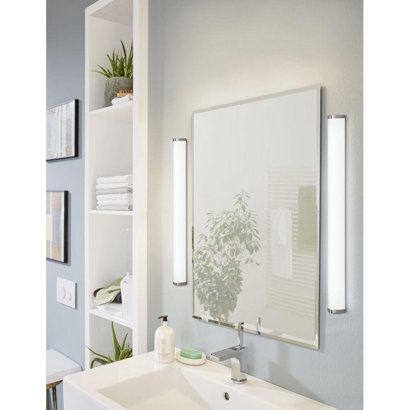 Eglo-94714 - Gita 2 - LED White & Chrome over Mirror Big Wall Lamp