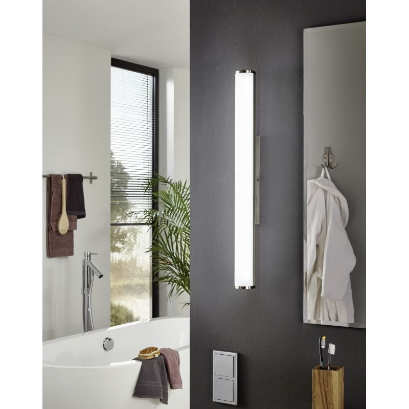 Eglo-94716 - Calnova - Bathroom LED White and Nickel over Mirror Medium Wall Lamp
