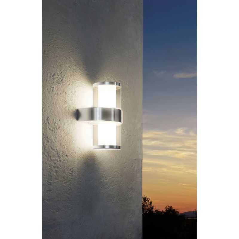 Eglo-94799 - Beverly 1 - LED Twin Acrylic & Stainless Steel Wall Lamp