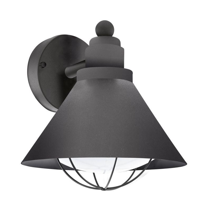Eglo-94805 - Barrosela - Outdoor White & Black Wall Lamp