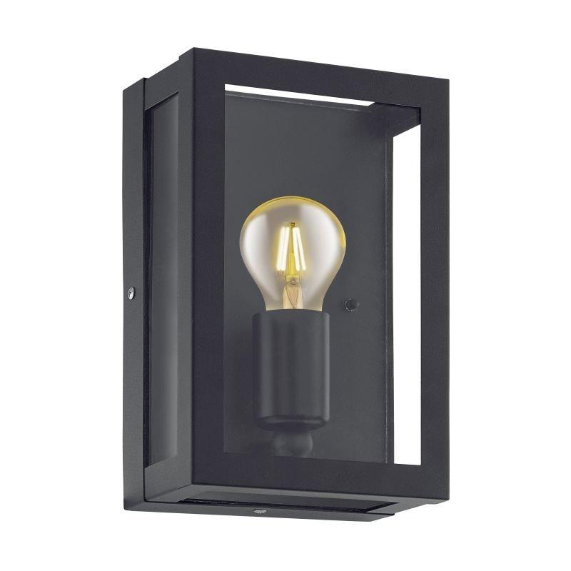 Eglo-94831 - Alamonte 1 - Outdoor Black Lantern Wall Lamp