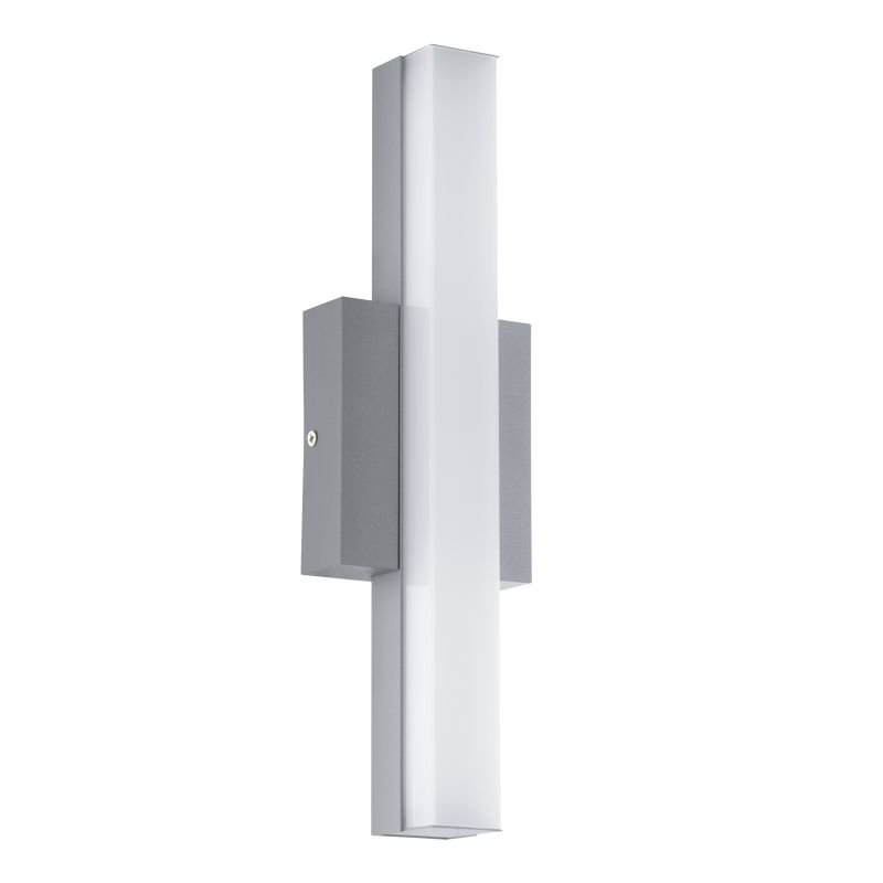 Eglo-94845 - Acate - Outdoor LED White & Silver Wall Lamp