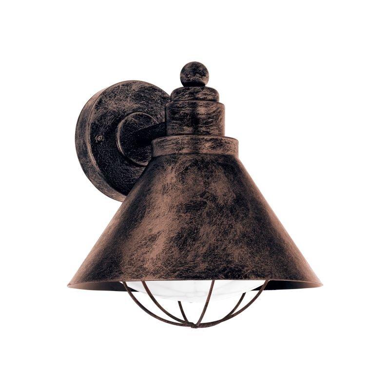 Eglo-94858 - Barrosela - Outdoor White & Antique Copper Wall Lamp