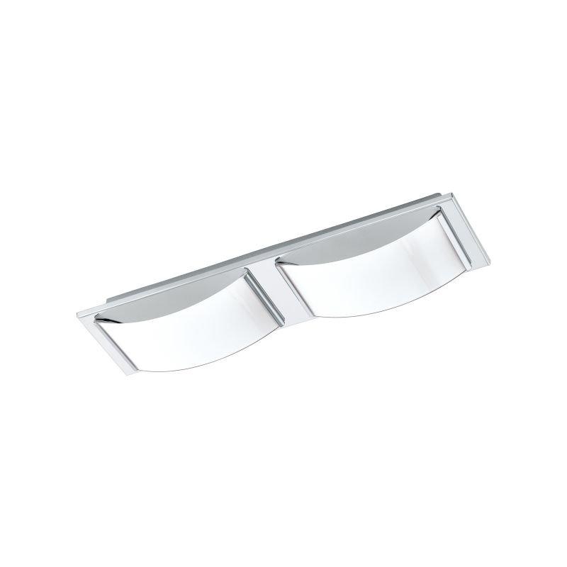 Eglo-94882 - Wasao 1 - LED White & Chrome 2 Light Wall/Ceiling Lamp