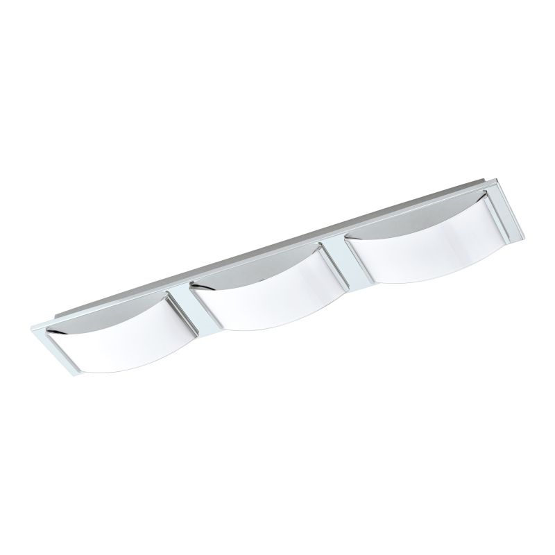 Eglo-94883 - Wasao 1 - LED White & Chrome 3 Light Wall/Ceiling Lamp