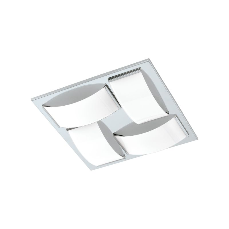 Eglo-94884 - Wasao 1 - LED White & Chrome 4 Light Ceiling Lamp
