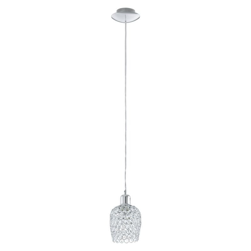 Eglo-94896 - Bonares 1 - Crystal & Polished Chrome Single Pendant