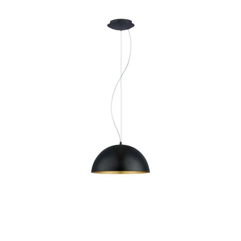 Eglo-94935 - Gaetano 1 - Small Black with Gold Inside Single Pendant