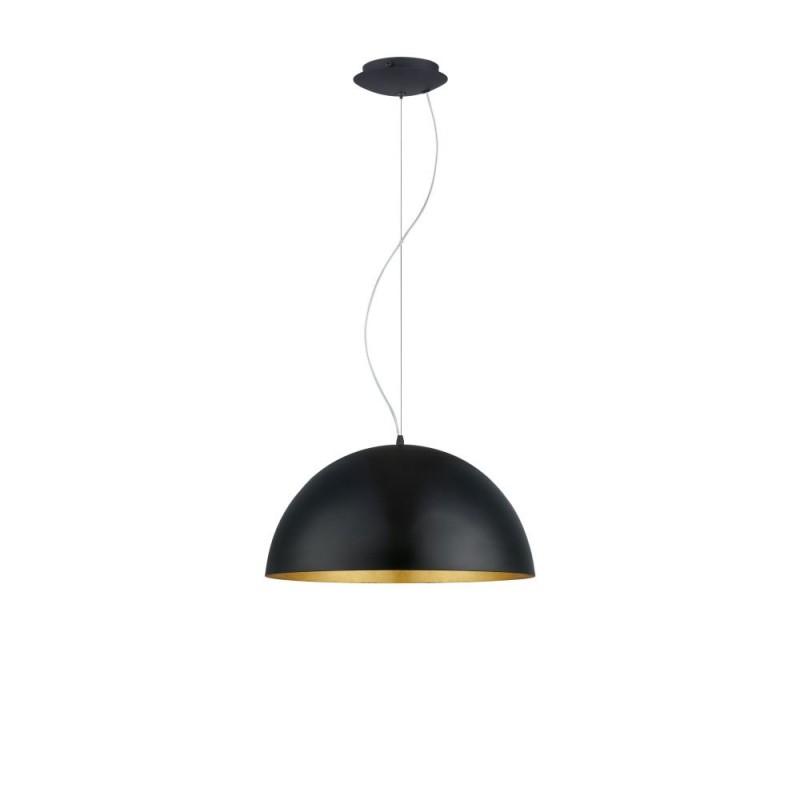Eglo-94936 - Gaetano 1 - Big Black with Gold Inside Single Pendant