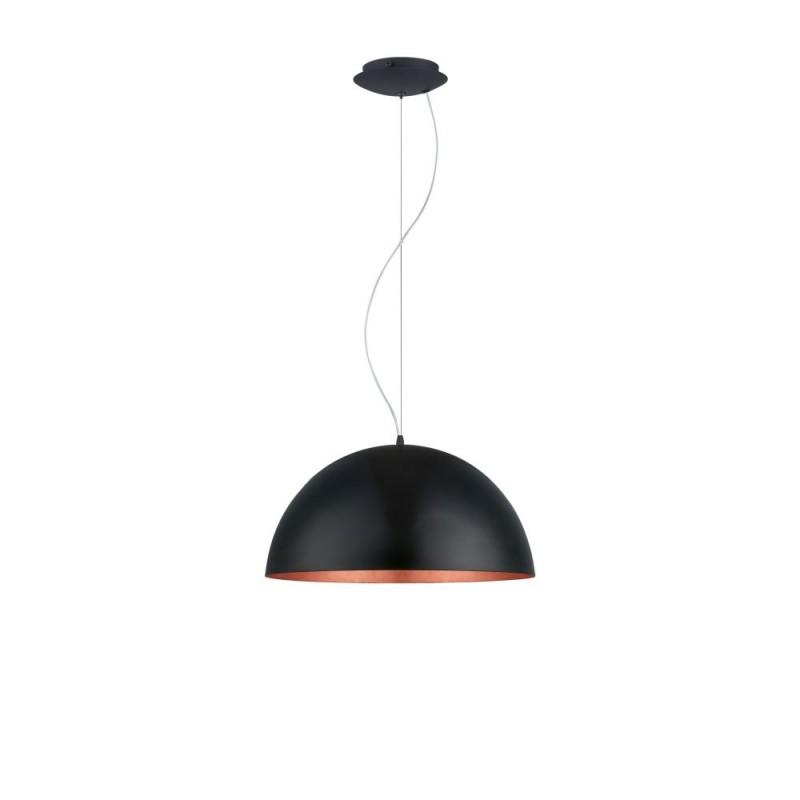 Eglo-94938 - Gaetano 1 - Big Black with Copper Inside Single Pendant