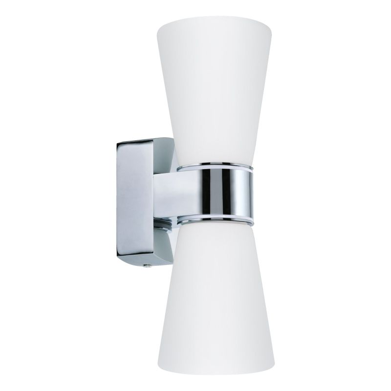 Eglo-94989 - Cailin - Bathroom White Glass & Chrome Wall Lamp