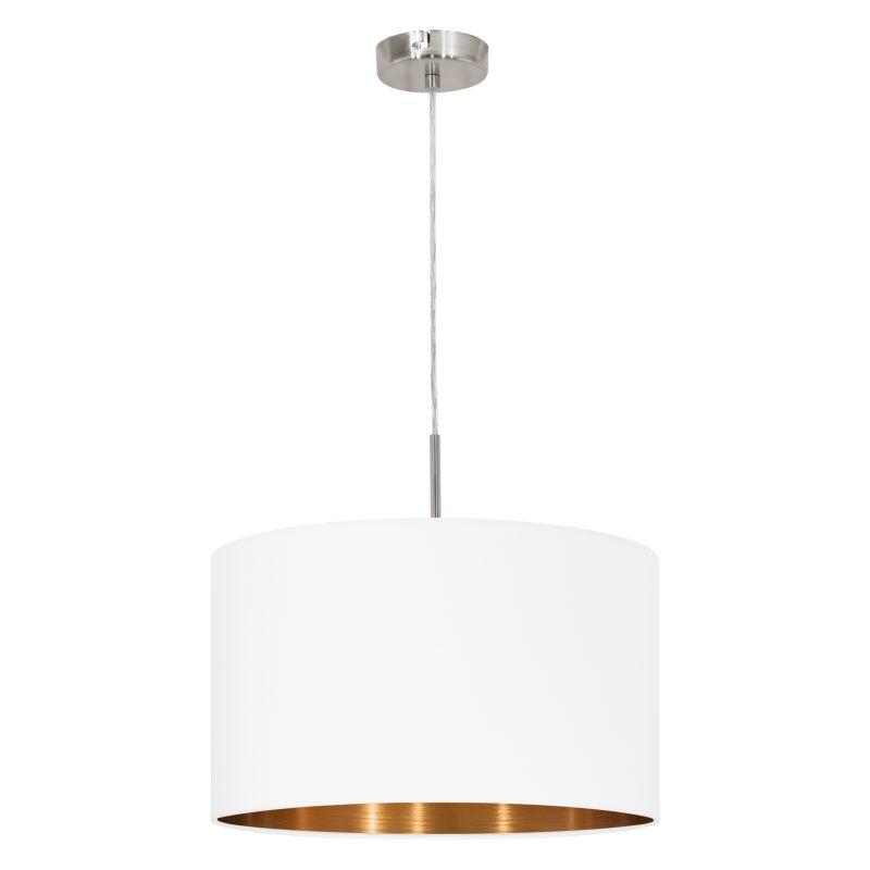 Eglo-95044 - Pasteri - White & Copper with Nickel Single Pendant