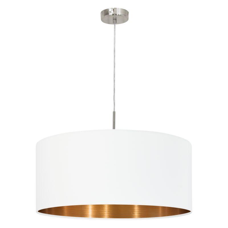 Eglo-95045 - Pasteri - White & Copper with Nickel Single Pendant
