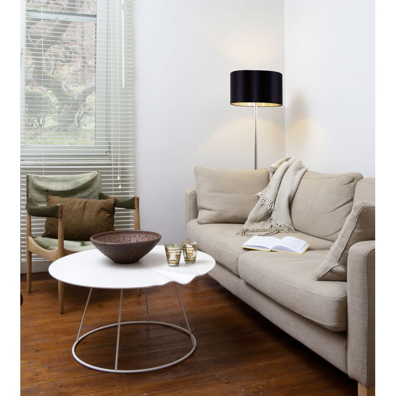 Eglo-95169 - Maserlo - Black & Gold with Nickel Floor Lamp