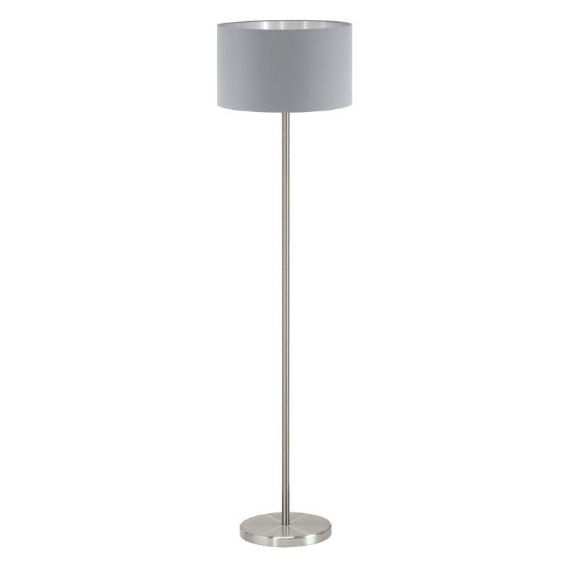 Eglo-95173 - Maserlo - Grey & Silver with Nickel Table Lamp