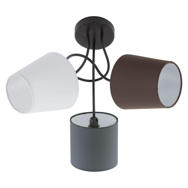 Eglo-95192 - Almeida - Different Shades & Black 3 Light Semi Flush