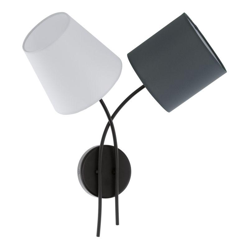 Eglo-95193 - Almeida - Different Shades & Black 2 Light Wall Lamp