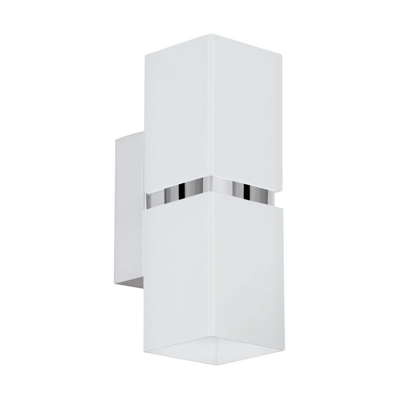 Eglo-95377 - Passa - White and Chrome Square Up&Down Wall Lamp