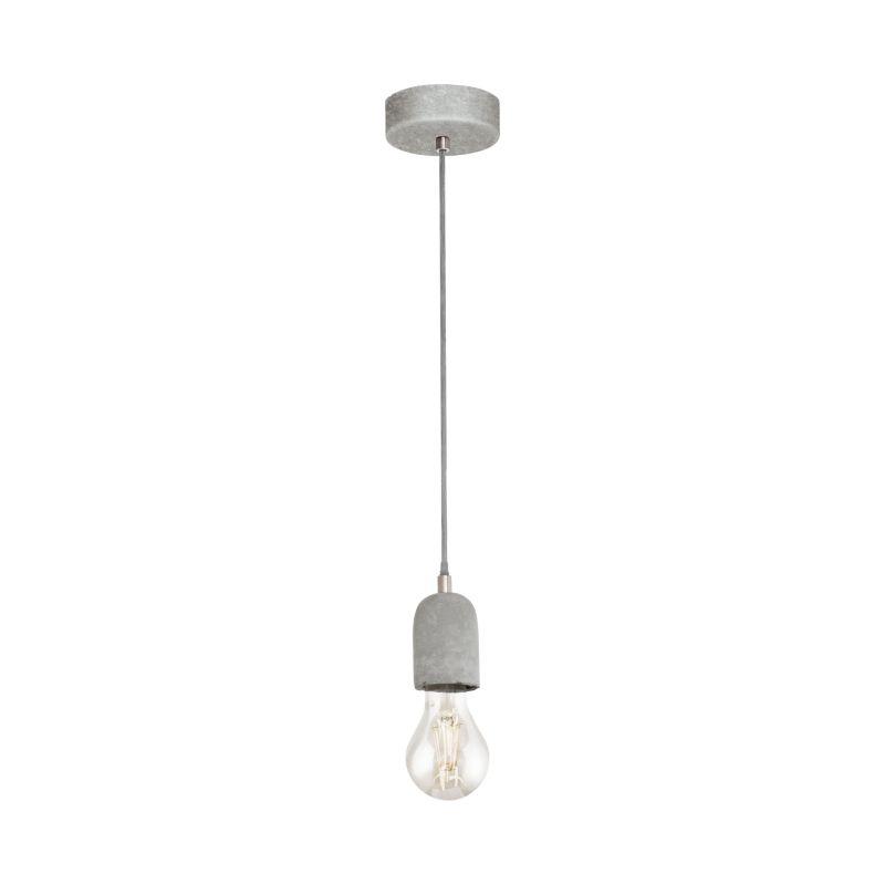 Eglo-95522 - Silvares - Grey Concrete Single Pendant