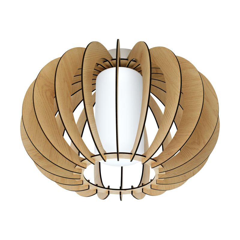 Eglo-95597 - Stellato 1 - Natural Wood and Glass Ceiling Lamp