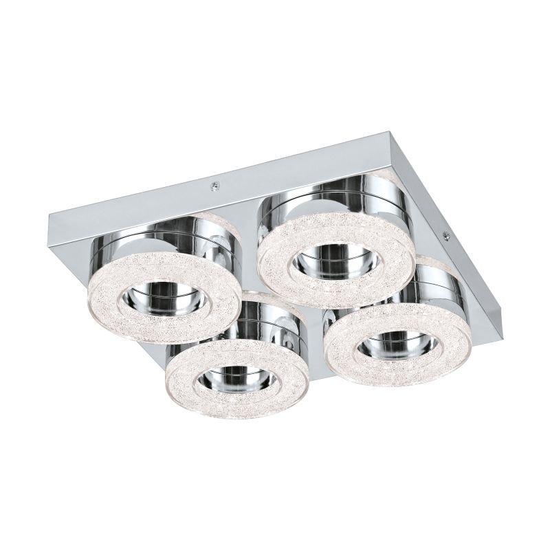 Eglo-95664 - Fradelo - LED Crystal with Chrome 4 Light Circle Flush