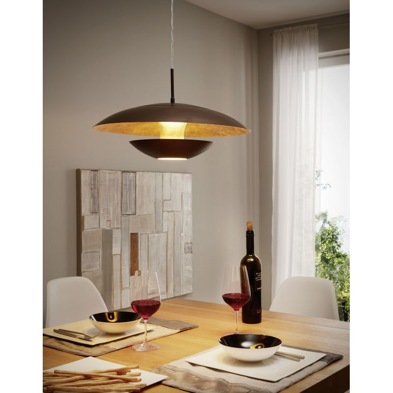 Eglo-95755 - Nuvano - Brown and Gold Single Hanging Pendant