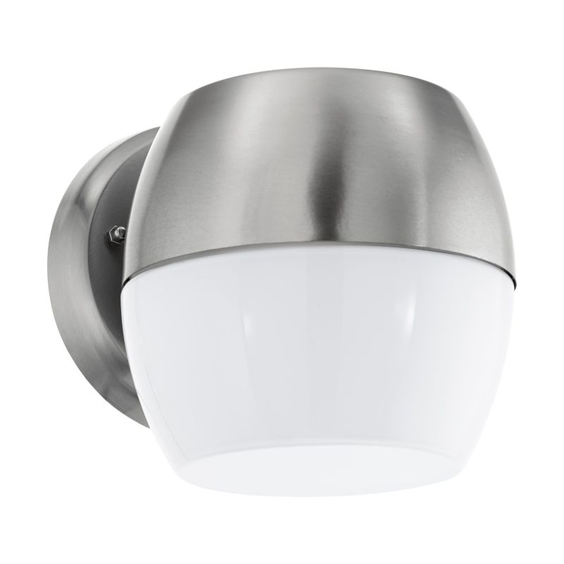 Eglo-95982 - Oncala - Outdoor LED Stainless Steel & White Wall Lamp