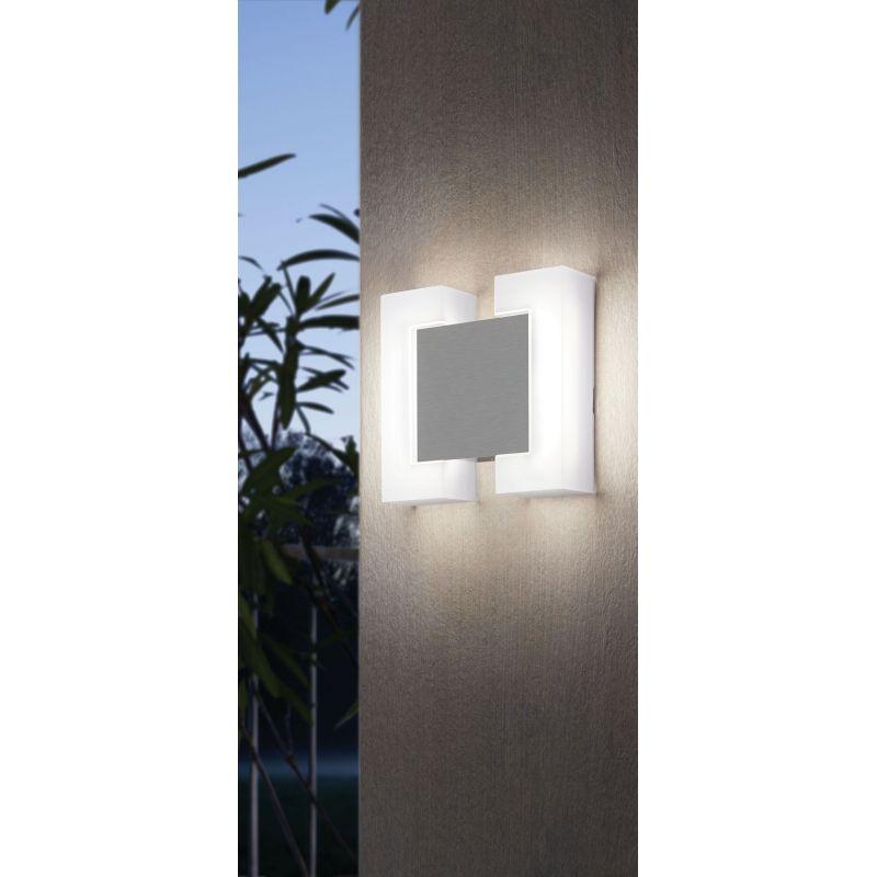 Eglo-95987 - Sitia - Outdoor LED White & Satin Nickel Wall Lamp