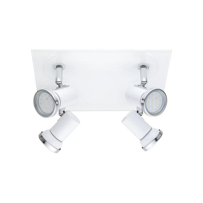 Eglo-95995 - Tamara 1 - White & Chrome 4 Light Spotlights