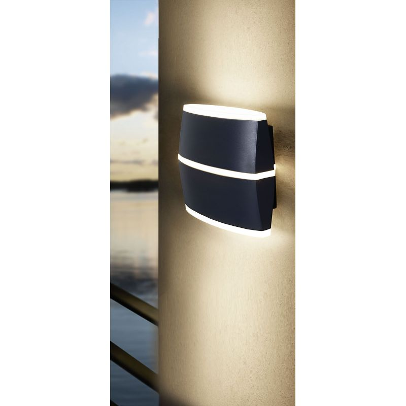 Eglo-96007 - Perafita - Outdoor LED Anthracite & White Wall Lamp