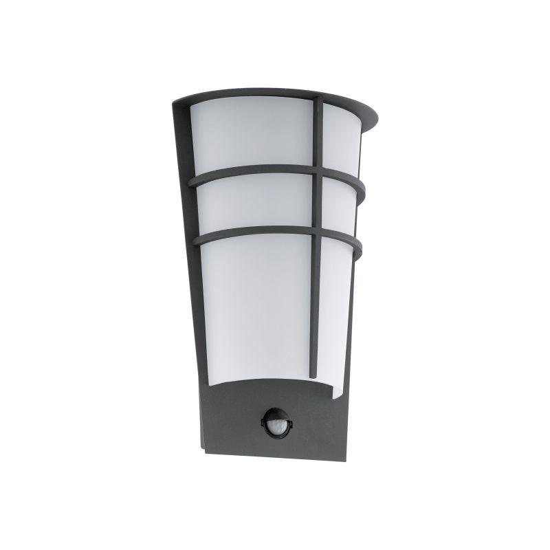 Eglo-96018 - Breganzo 1 - Outdoor White & Anthracite PIR Wall Lamp