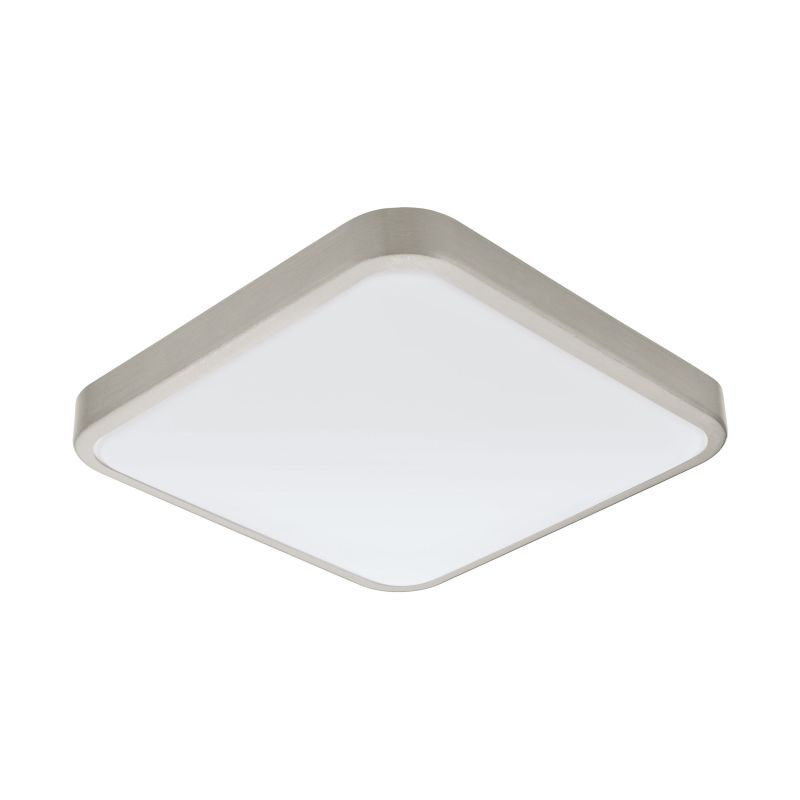 Eglo-96231 - Manilva 1 - LED White & Satin Nickel Ceiling Lamp
