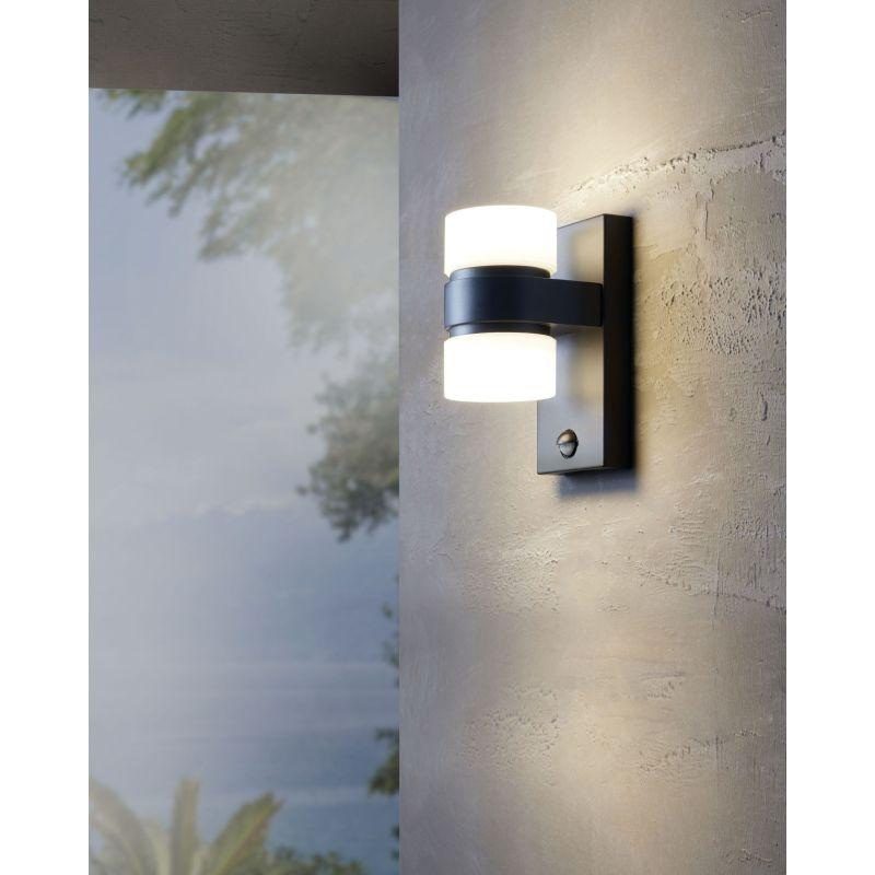 Eglo-96276 - Atollari - LED Anthracite Wall Lamp with Sensor
