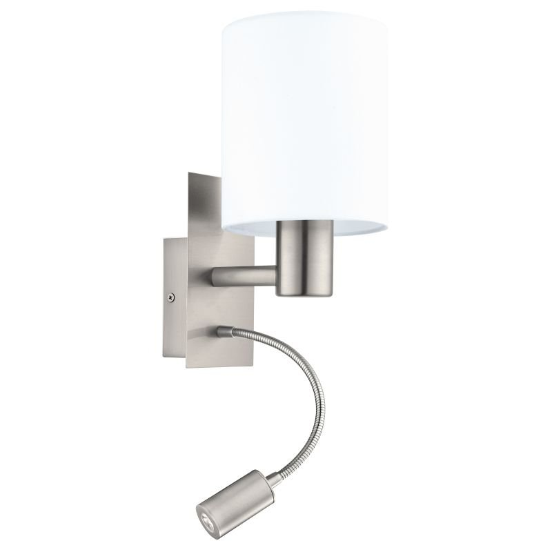 Eglo-96477 - Pasteri - White with Satin Nickel Mother&Child Wall Lamp