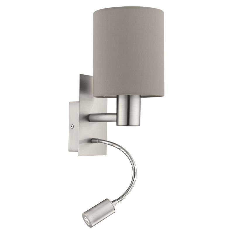 Eglo-96478 - Pasteri - Taupe & White with Nickel Mother&Child Wall Lamp