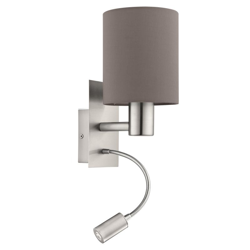 Eglo-96481 - Pasteri - Brown & White with Nickel Mother&Child Wall Lamp
