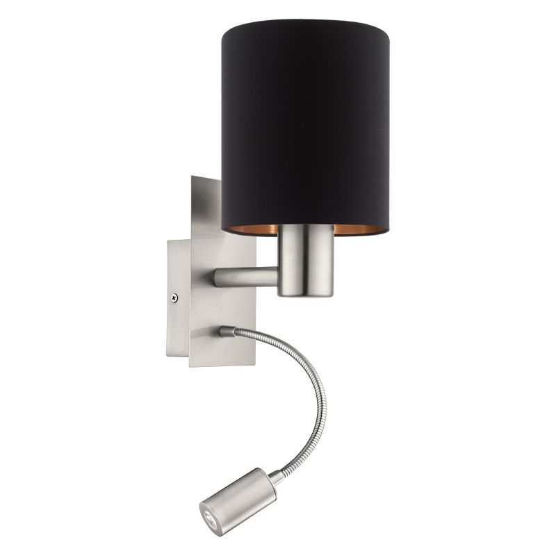 Eglo-96483 - Pasteri - Black & Copper with Nickel Mother&Child Wall Lamp