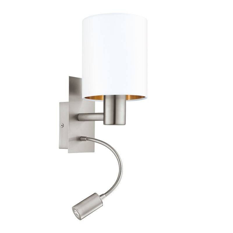 Eglo-96484 - Pasteri - White & Copper with Nickel Mother&Child Wall Lamp