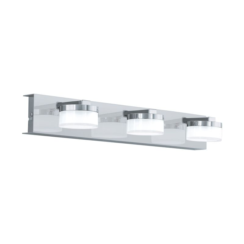 Eglo-96543 - Romendo 1 - LED Frosted & Chrome 3 Light Dimm Wall Lamp