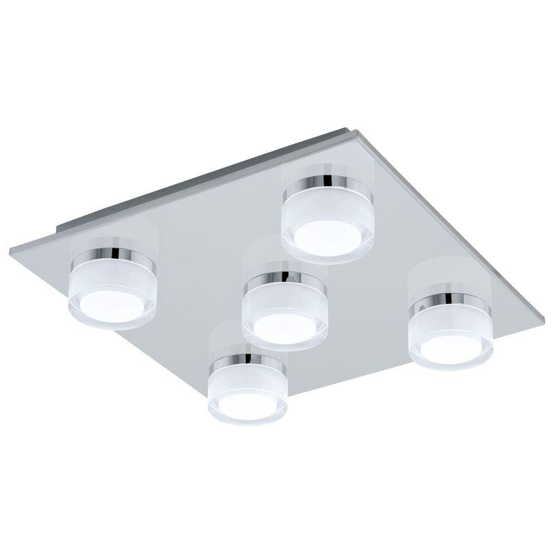 Eglo-96544 - Romendo 1 - LED Frosted & Chrome 5 Light Dimm Ceiling Lamp