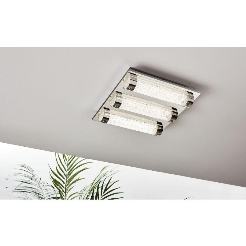 Eglo-97056 - Tolorico - LED Crystal & Chrome 3 Light Ceiling Lamp