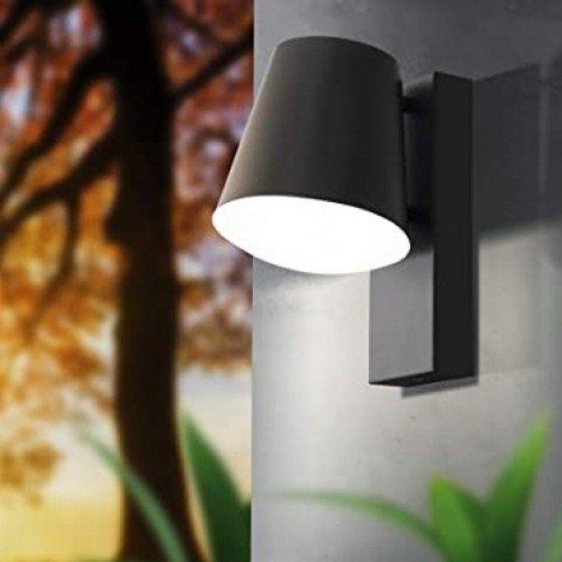 Eglo-97146 - Caldiero - Outdoor Anthracite & White Wall Lamp