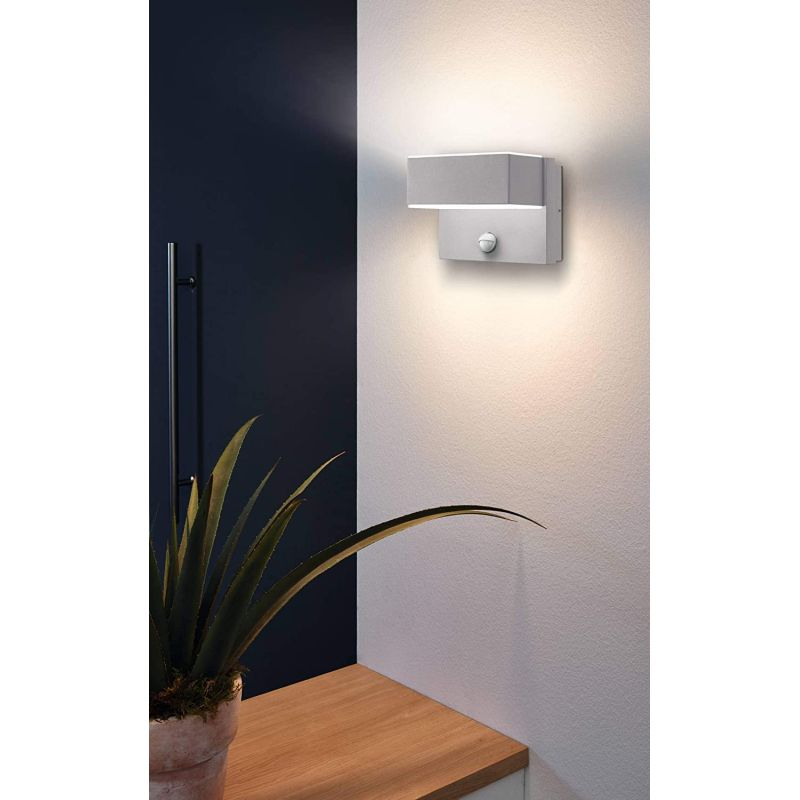 Eglo-97159 - Azzinano - LED White & Silver Wall Lamp with Sensor