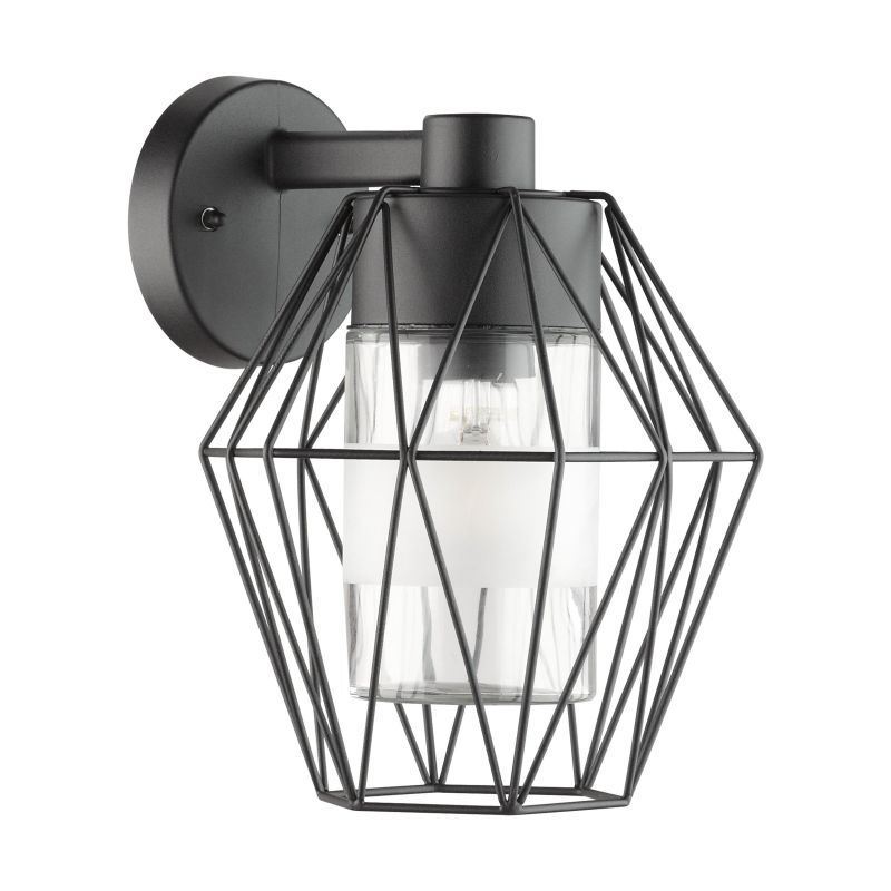 Eglo-97226 - Canove - Outdoor Clear Glass & Black Wall Lamp