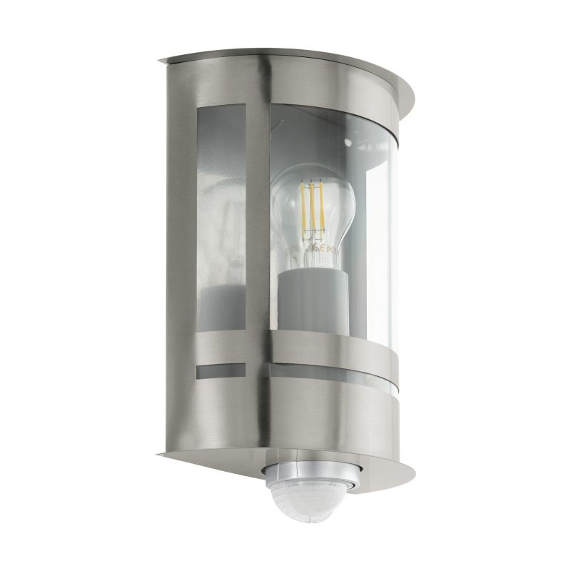 Eglo-97284 - Tribano - Outdoor Clear & Stainless Steel Wall Lamp